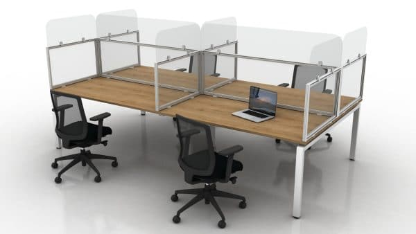 Glazed Desk mounted with end returns and sculptural additions