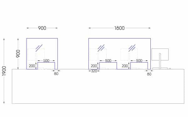 Perspex Screens drawing