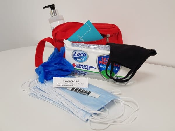 Personal Protective Packs, incl sanitiser, wipes, gloves