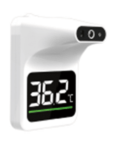 Wall mounted thermometer