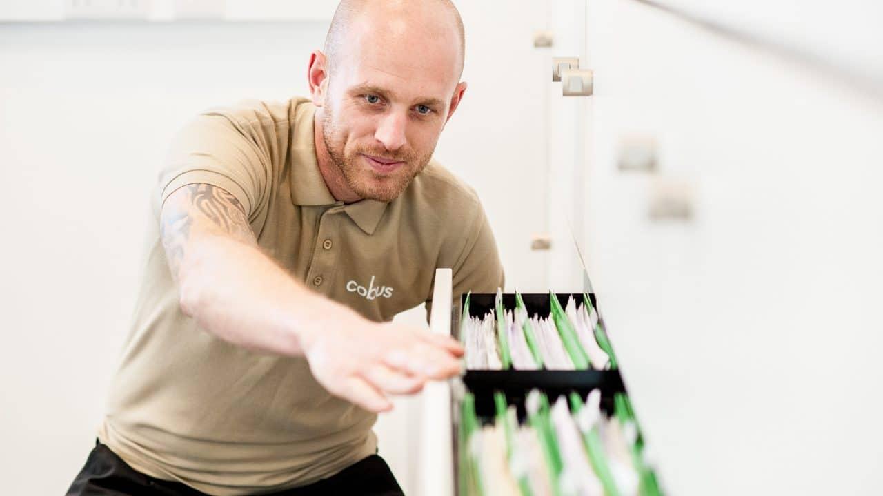 Cobus Fitter during office refurbishment